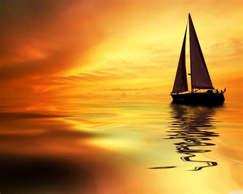 Late Sunset Sail Boat Sunset Sunset Sail Boat Wallpaper 2560x1600 Wallpapers13