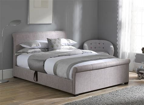 Bed Frames Dreams Wilson Silver Fabric Ottoman Bed Frame Dreams