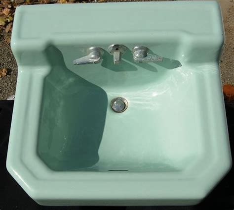 1950s bathroom sink vintage wall mount sink for bathroom jadite green richmond