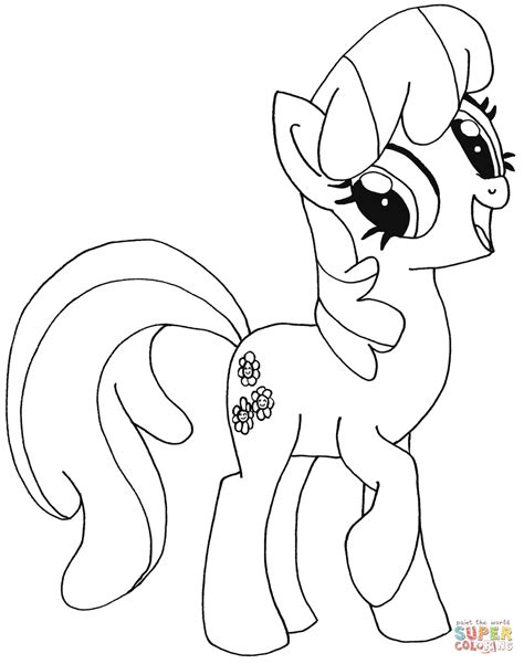 my little pony coloring pages cheerilee my little pony cheerilee coloring page free printable