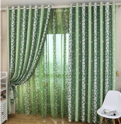 green curtains for bedroom bedroom curtains living room curtain rustic small fresh floor curtain green curtain