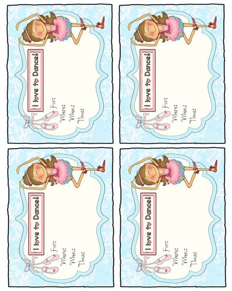 templates for ballerina invitations parties and patterns printable invitation quot ballerina