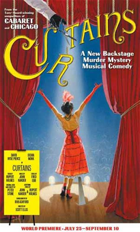curtains musical script curtains at the ahmanson theatre review splash