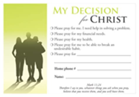 decision cards decision card prayer request 100 pack