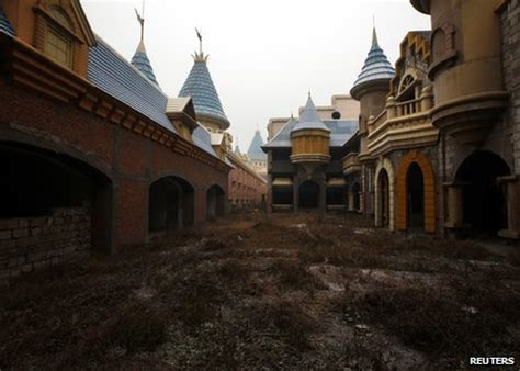ghostly images of abandoned malls houses and buildings by bbc news china s ghost towns and phantom malls