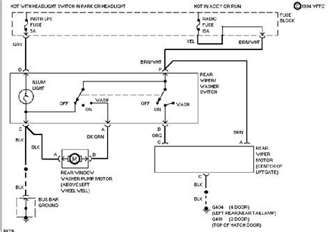 help need rear wiper switch circuit diagram