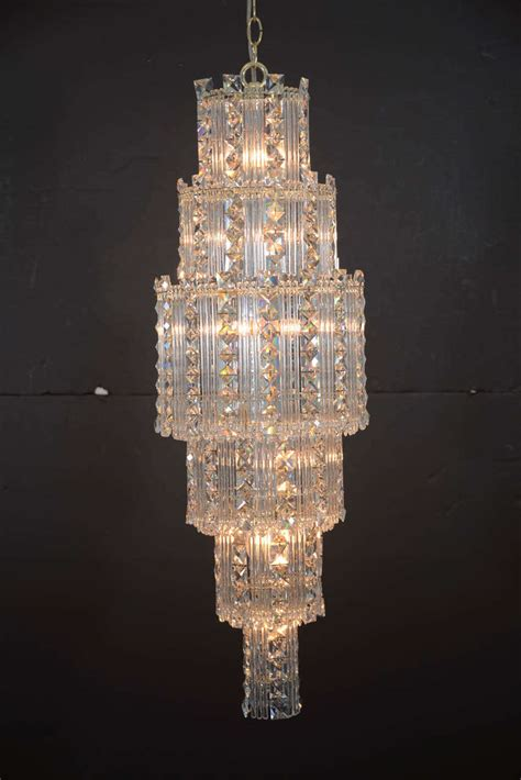 Mid Century Modern Crystal Chandelier For Sale At 1stdibs Modern Chandeliers For Sale