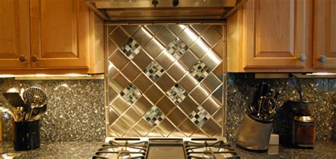 metal wall tiles kitchen backsplash metal kitchen backsplashes home interior popular