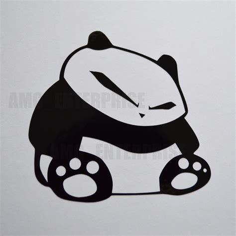 St Pandablack black panda decal sticker vinyl for ford focus mondeo st ka kuga galaxy ebay