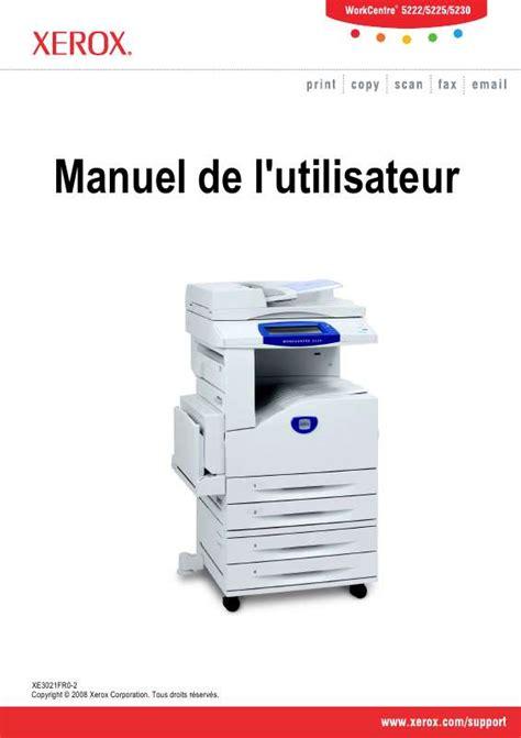 Xerox Cp235w Cover By M mode d emploi xerox workcentre 5230 imprimante