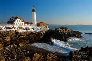 lighthouse landscape lighting portland light lighthouse seascape landscape rocky