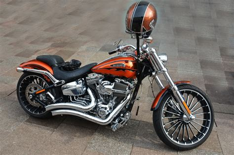 orange harley davidson motorbike  retina ultra hd