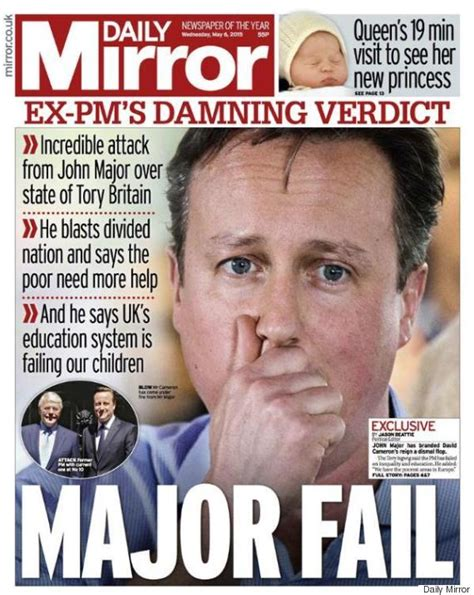 Vote Says Worst Owner by General Election Front Pages Show The Press At