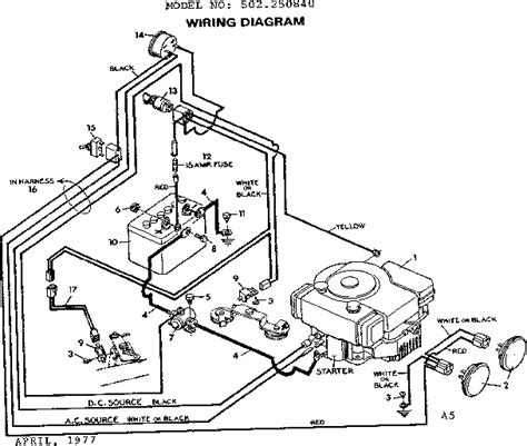 wiring diagram craftsman mower parts list get