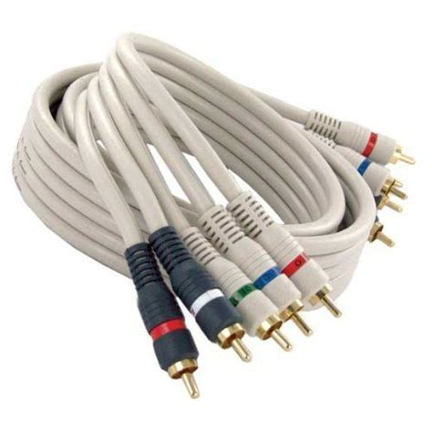 av cable colors steren python component audio cable 5 x rca