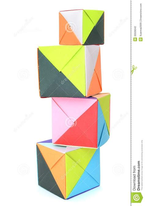 Origami Blocks - origami paper blocks stock photography image 30509042