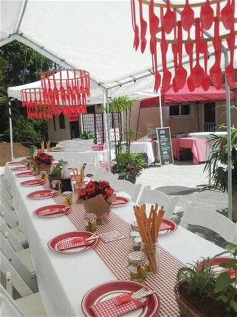 themed dinner party kits centerpiece ideas tablecloths and flower on pinterest