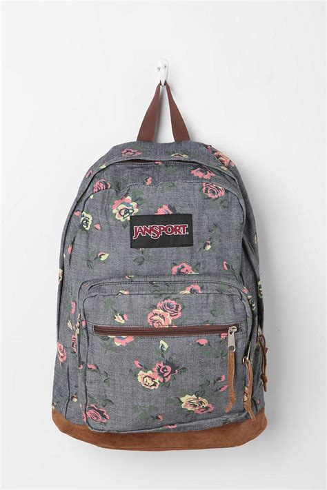 Tas Jansport Tribal jansport floral chambray backpack chambray bags and puppys