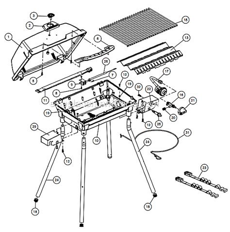 gas grill parts diagram broil king 9002 14 parts list and diagram