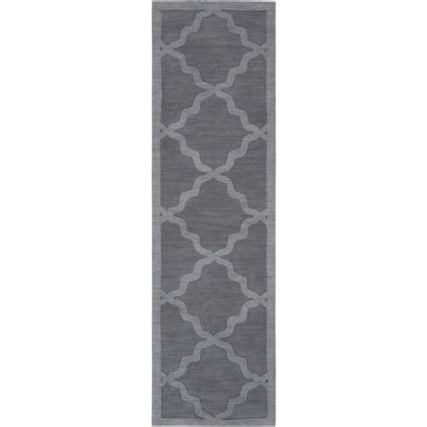 14 foot rug runner artistic weavers central park charcoal 2 ft 3 in x 14 ft indoor rug runner awhp4023