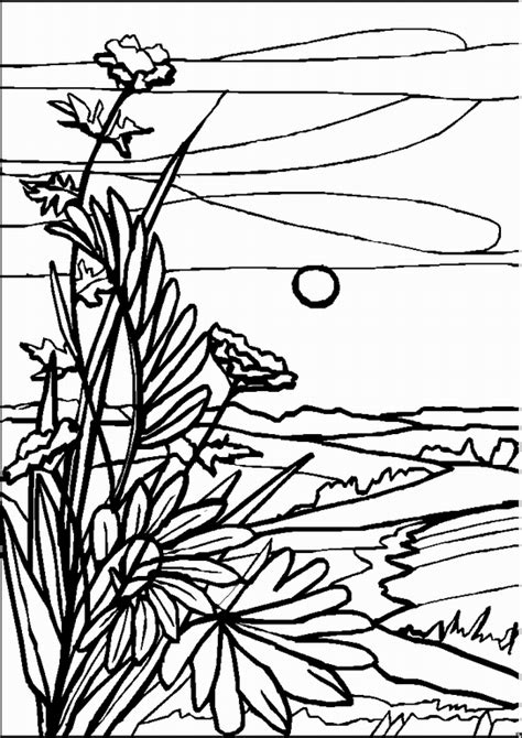 Coloring Page Landscape by Free Coloring Pages Of Child To Landscape