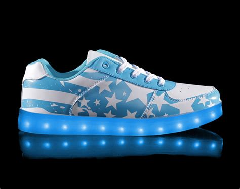 big led light up shoes cotton blue low top sale