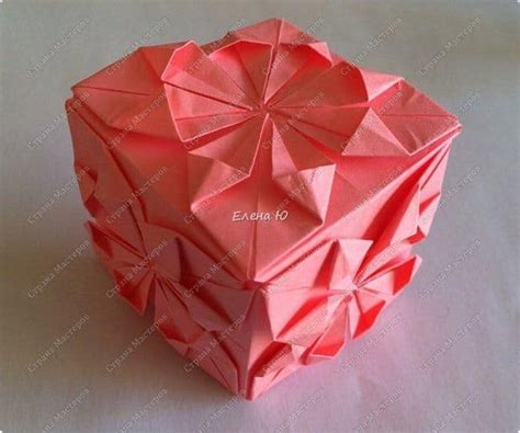 Origami Flower Cube - how to make origami flower cube simple craft ideas