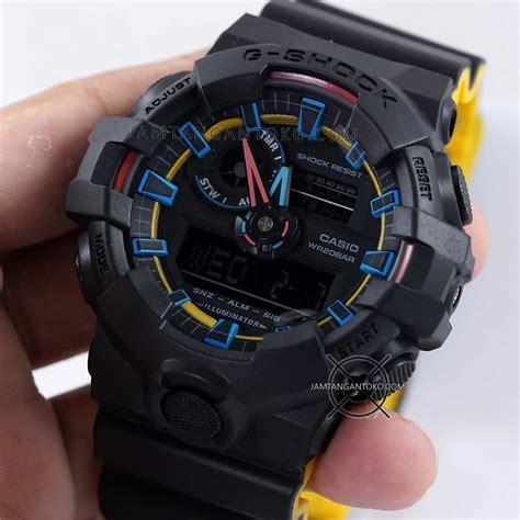 Jp Jam Tangan Pria Digitec Ga 700 Ori Anti Air Black harga sarap jam tangan g shock ga 700se 1a9 hitam kuning neon