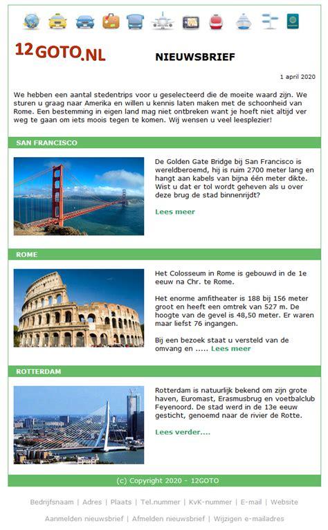 layout van een blog nieuwsbrief layouts voorbeelden ontwerpen en bewerken