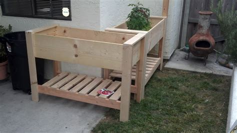 Building A Raised Planter Box by White Raised Planter Boxes Diy Projects