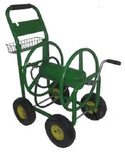 Garden Hose Cart Water Garden Hose Reel Cart W 4 Wheels Heavy Duty Wind Up