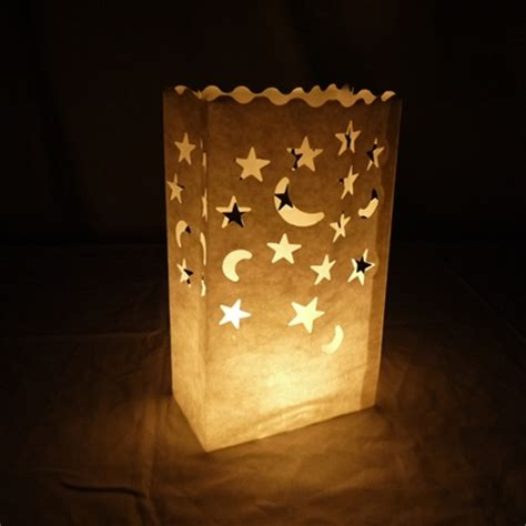 star moon paper luminaries luminary lantern bags path