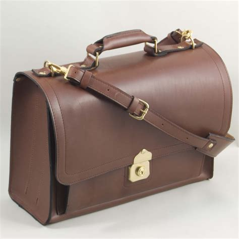 the briefcase satchel handmade leather briefcase by