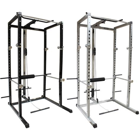 Squat Rack With Cables by Mirafit Power Rack Squat Cage Cable Lat Pull Up Row