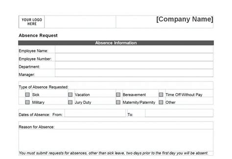 Time Off Request Form Day Off Request Form Time Request Calendar Template