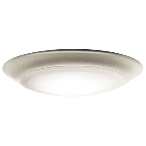 kichler led lighting kichler 43848niled30 brushed nickel led 3000k 7 5 quot flush