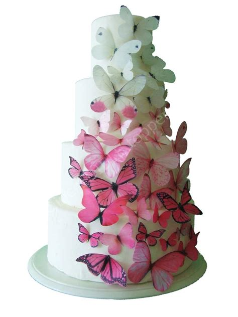 Edible Cake Decorations by Toppers Ombre Edible Butterflies In Pink Cake Toppers Cake Decorations Cake