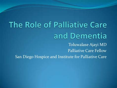 Comfort Hospice And Palliative Care End Stage Dementia And Palliative Care