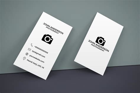 Business Card Vertical Template Free by Free Photography Vertical Business Card Creativetacos