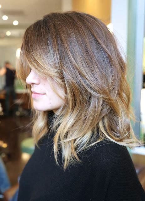 does ombre work with medium layered hair length layered cuts subtle ombre and haircuts with bangs on