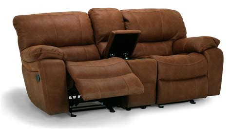 reclining loveseat with center console flexsteel furniture latitudes grandview collection