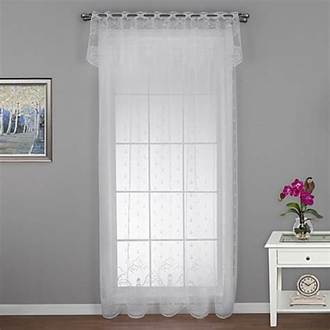 Lighthouse Window Curtains Heritage Lace 174 Lighthouse Window Curtain Panel And Valance Bed Bath Beyond