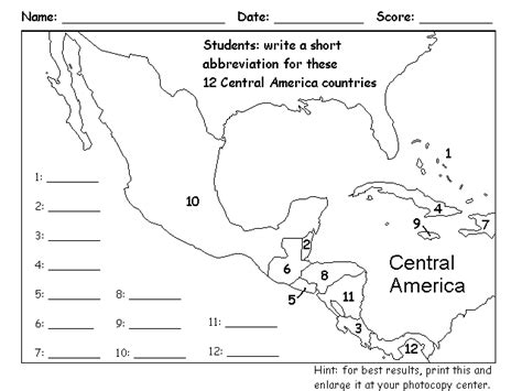 map outline of central america blank map america quiz