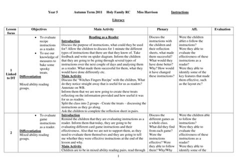 lesson plan template ks2 literacy instructions ks2 writing planning and lessons by