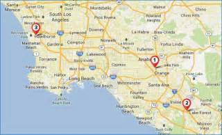 map of los angeles california area it and management courses