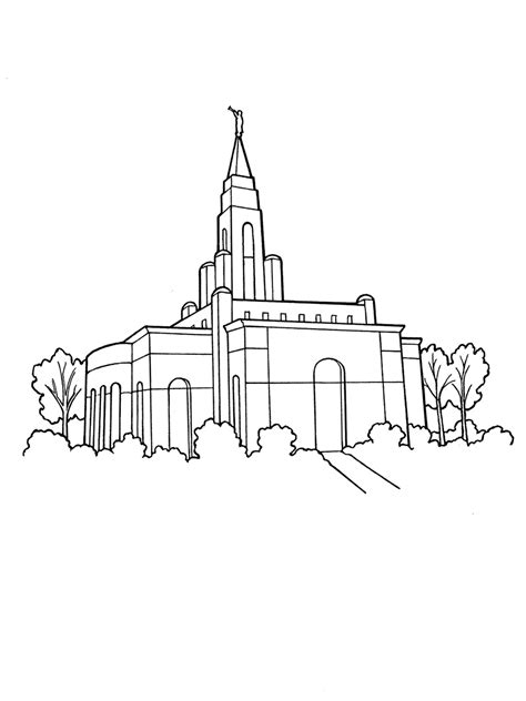 Our Deseret Homeschool Gospel Basics 38 Week Lesson Plan Salt Lake Temple Coloring Page
