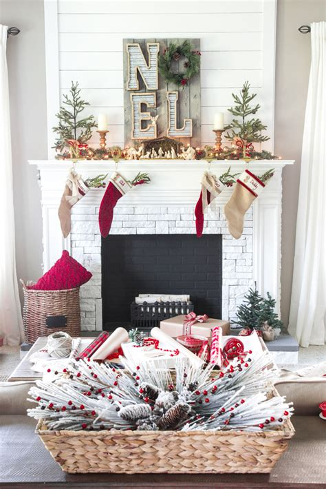 Red And White Kitchens Ideas cozy christmas living room tour bless er house