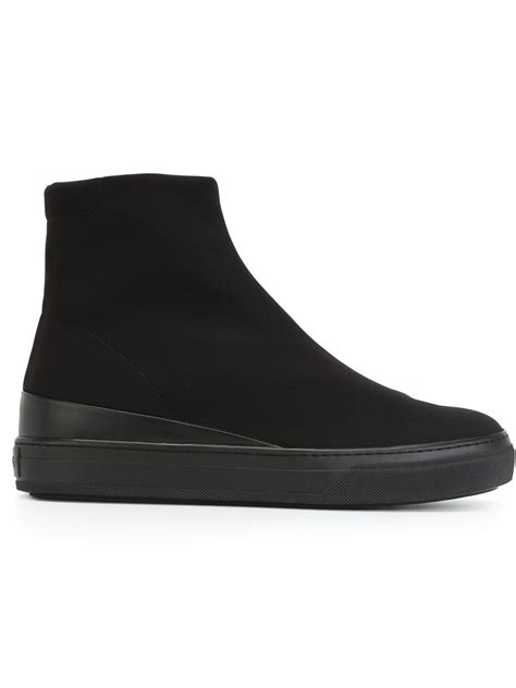 flat soled shoes tod s flat rubber sole boots in black lyst