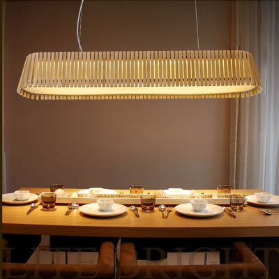 Japanese Style Country Wood Rectangular Pendant Light Kitchen Hanging Lights Table