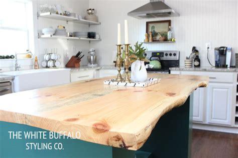 kitchen island tables products i love pinterest live edge kitchen island thewhitebuffalostylingco com